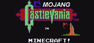 Entire Castlevania NES Game Recreated in Minecraft!
