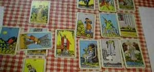 Read a tarot lay out covering a six month period