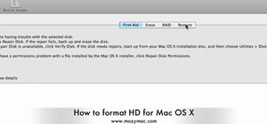 Format HD for Mac OS X