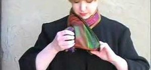 Tie a silk scarf