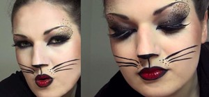 Create a Sexy Cat Makeup Look with Leopard Spots for Halloween