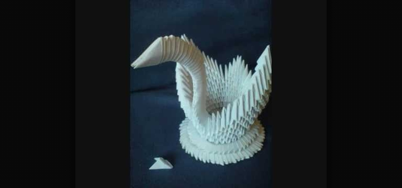 How To Make A 3D Origami Swan From 484 Paper Triangles WonderHowTo