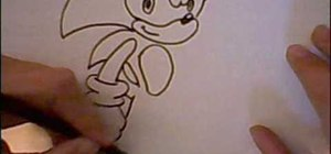 Do a quick draw of Sonic the Hedgehog