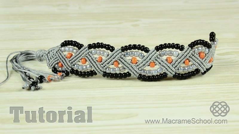 Beaded Zig Zag Bracelet Tutorial