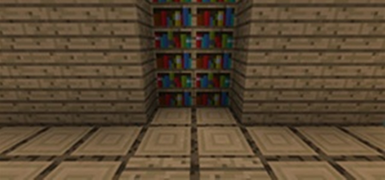 How to build a hidden bookshelf door minecraft