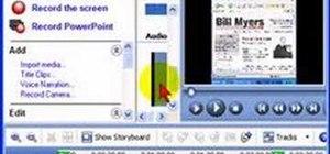 Add a second audio track to a Camtasia screencast