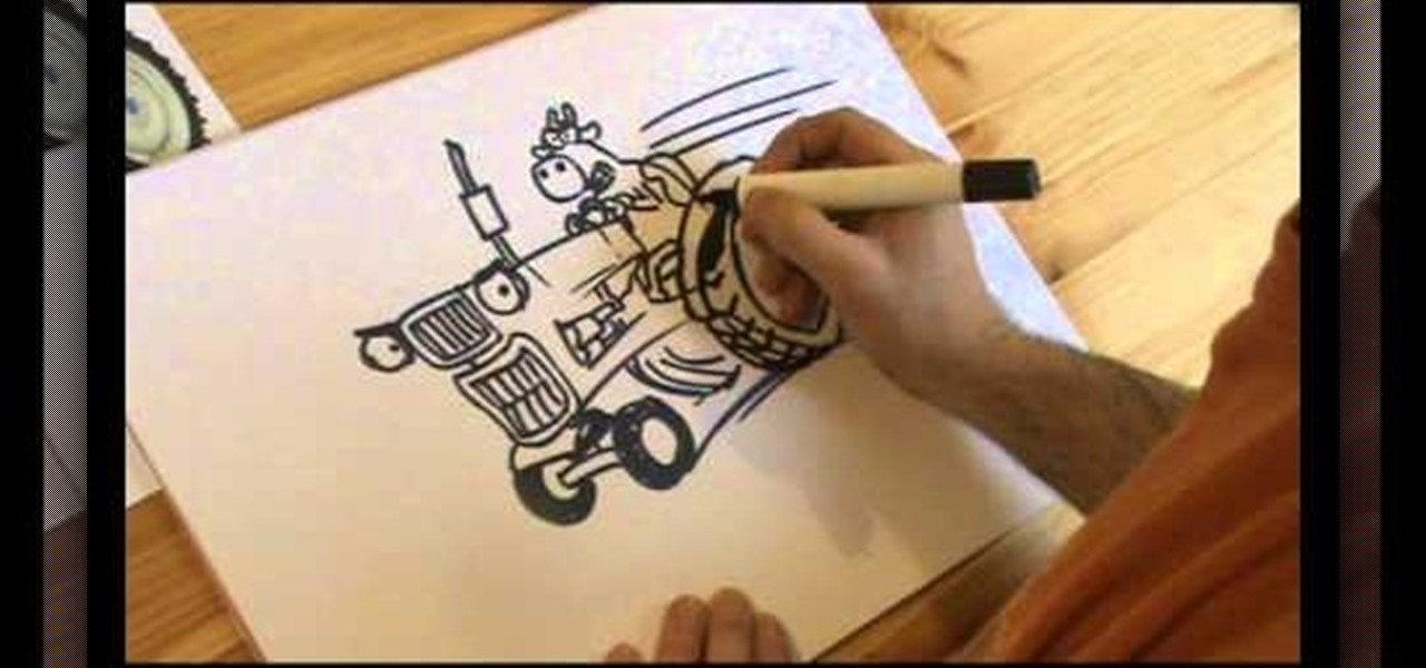 How To Draw A Cartoon Tractor And Other Fun Things