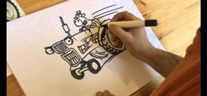 Draw a cartoon tractor and other fun things