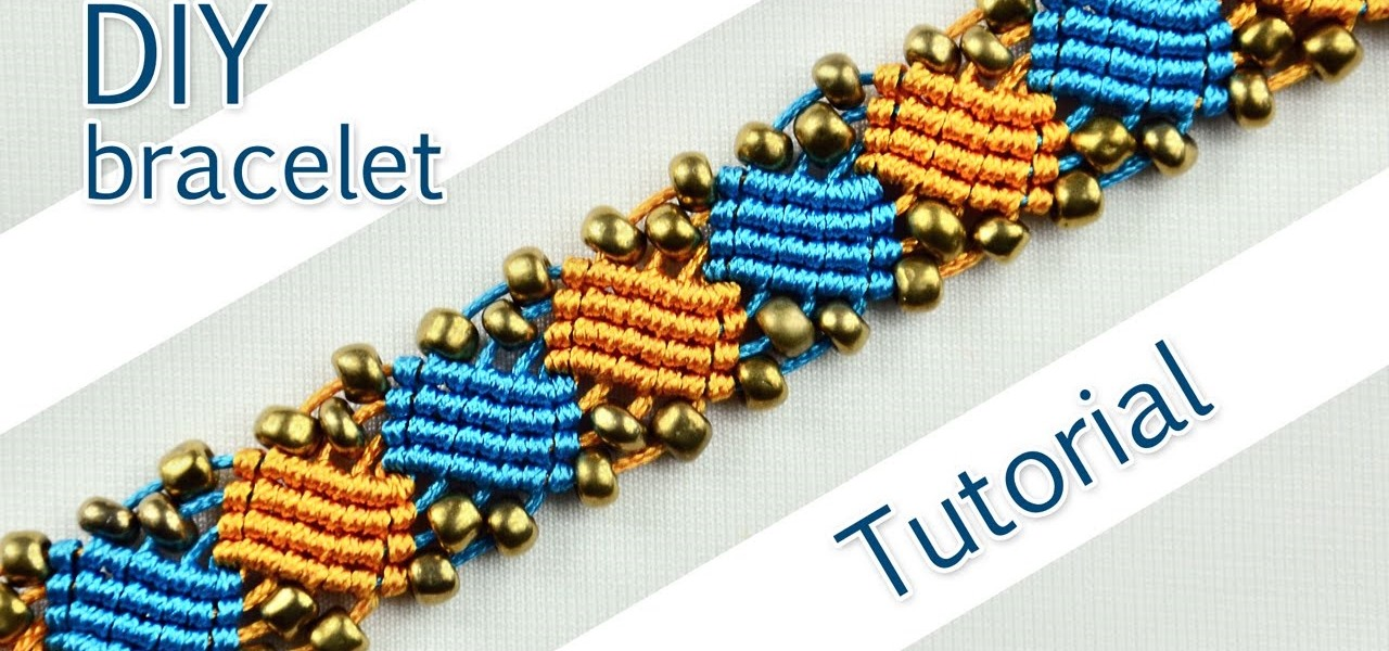 Make a Macrame Square Wave Bracelet