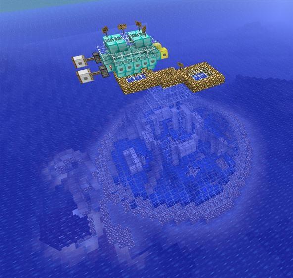 Futuristic underwater hotel cabin