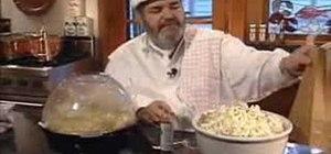 Season popcorn with spices