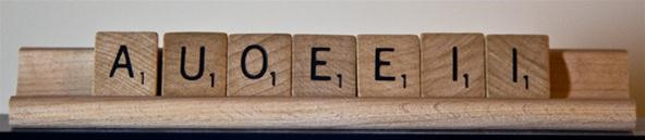 Scrabble Challenge #20: What Would You Do with a Rack Full of Vowels?