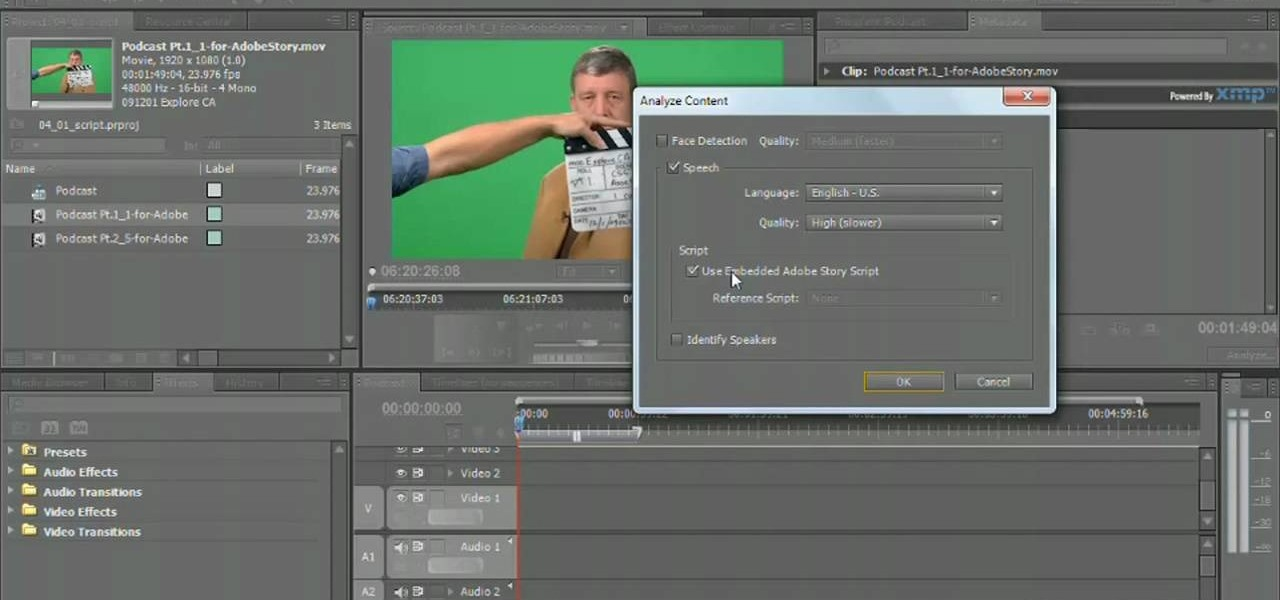 How to Key greenscreen footage in Adobe Premiere Pro CS5 « Photoshop