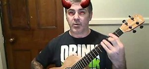 "Play ""Airplanes"" by B.o.B. on baritone ukulele"