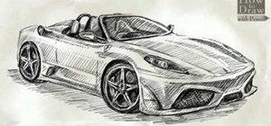 Draw a Ferrari Scuderia Spider 16M