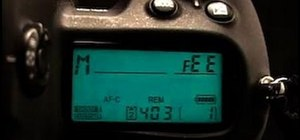 "Solve the blinking ""FEE"" error message on a Nikon DSLR"