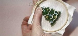 Make a holiday punch needle ornament