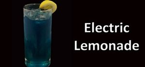 Mix an electric lemonade cocktail drink