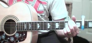 "Play Oasis ""Wonderwall"" on acoustic guitar"