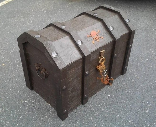 Woodworking diy wooden treasure chest PDF Free Download