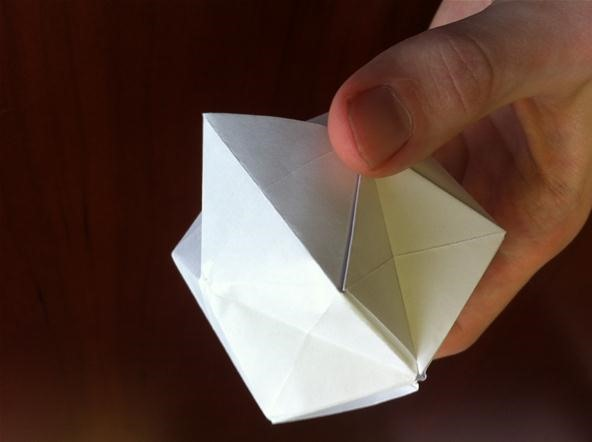 How to Fold a Textured Origami Ball