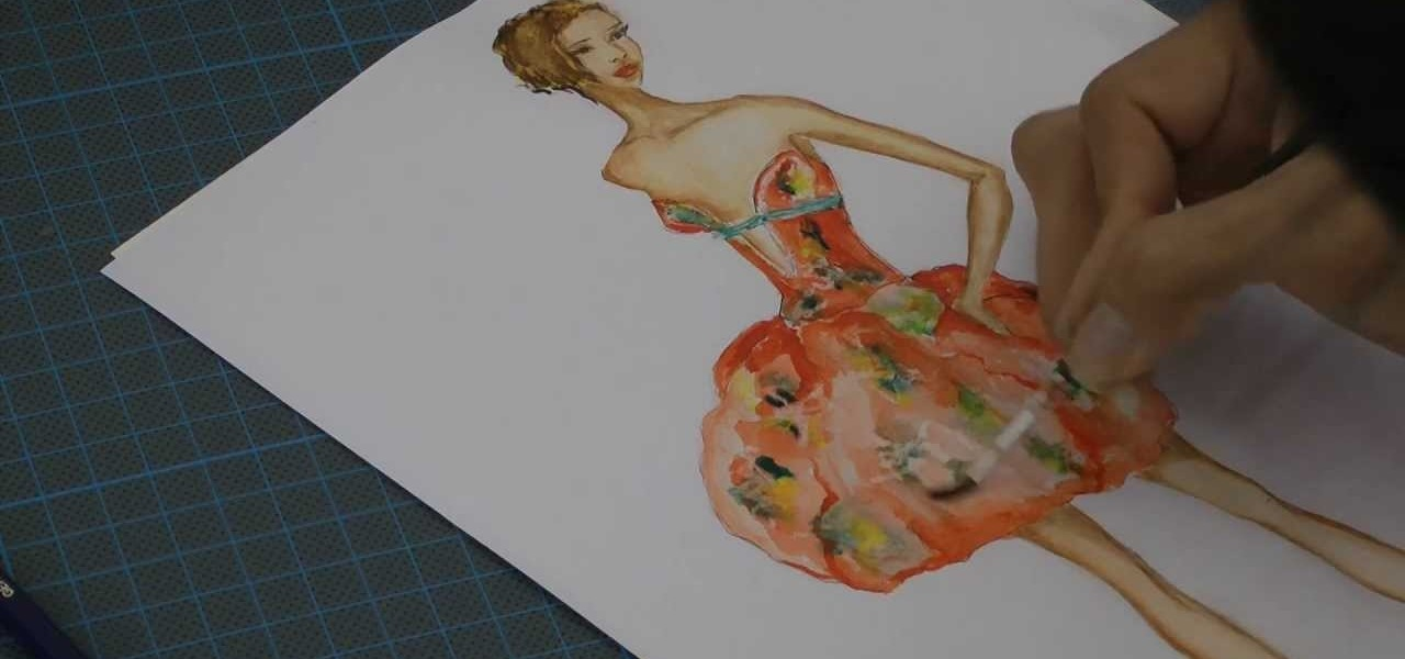 Paint a Fashion Drawing