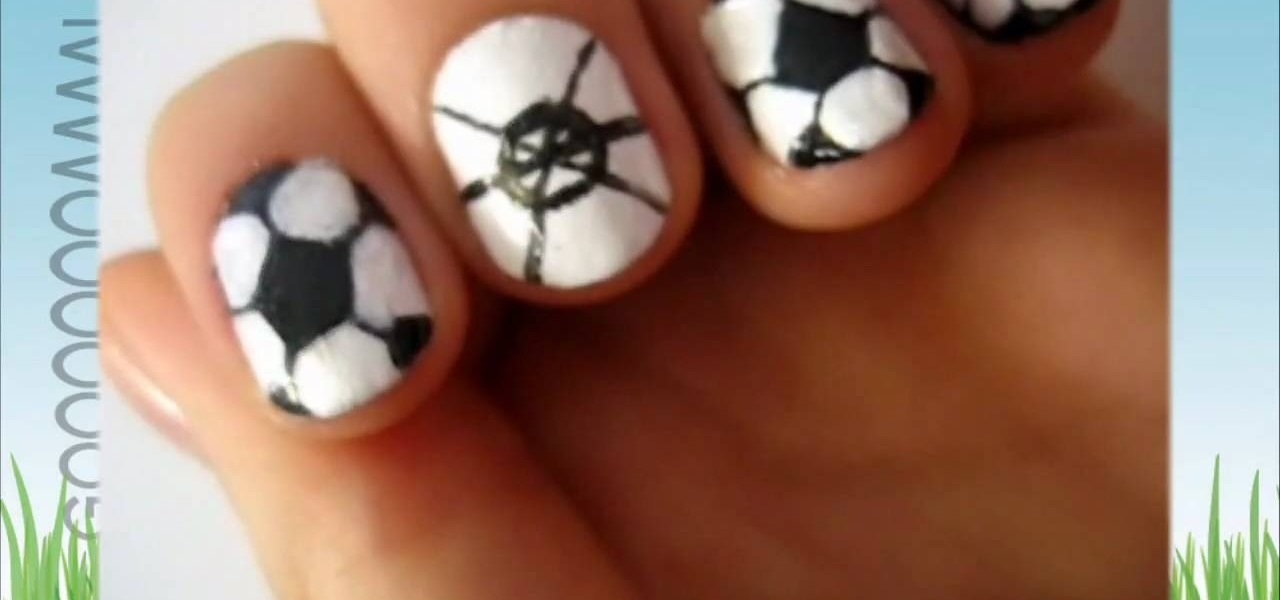 How to Paint your nails like soccer balls for the World Cup « Nails &  Manicure :: WonderHowTo - How To Paint Your Nails Like Soccer Balls For The World Cup
