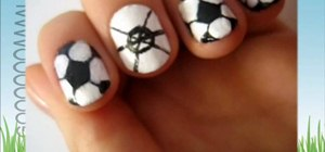 Paint your nails like soccer balls for the World Cup