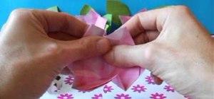 Fold a delicate simple origami azalea