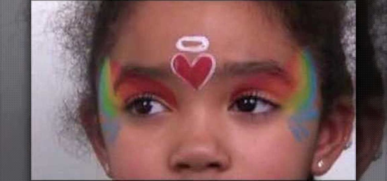How To Face Paint A rainbow Angel Kids Activities