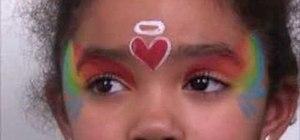 """Face paint a """"rainbow angel"""""""