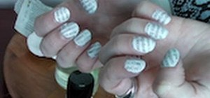 Do the Newspaper Nail Art