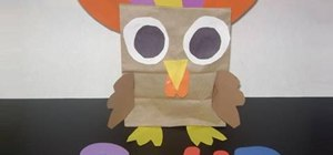 Make a colorful paper turkey