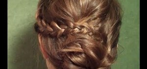 Create an easy to do but elaborate bohemian updo