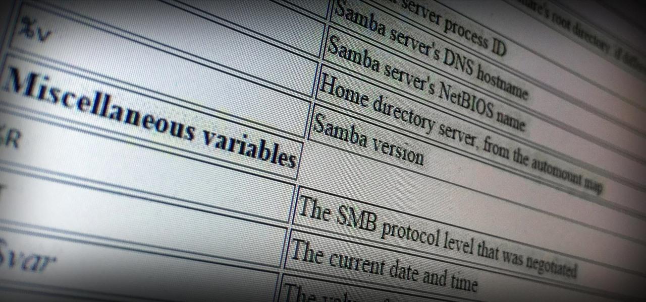 Linux Basics for the Aspiring Hacker, Part 22 (Samba)