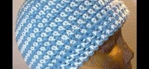 Crochet a beanie or cap style hat