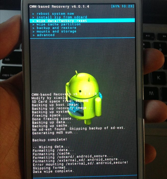 how to start my samsung s4 in safe mode