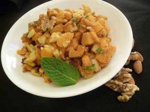 Make a healthy Indian salad sweet potato chaat - Part 2 of 2