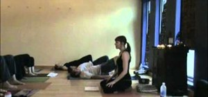 Do the Golden Egg yoga posture to energize and improve digestion