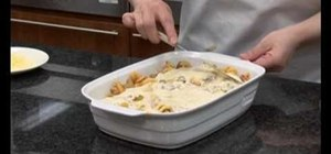 Make pasta bake with a cheesy topping
