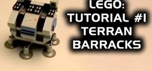 Make the Terran barracks from StarCraft with Legos