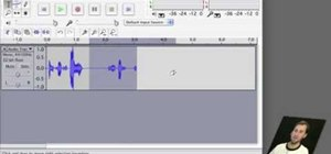 Edit audio sequences using Audacity for Mac