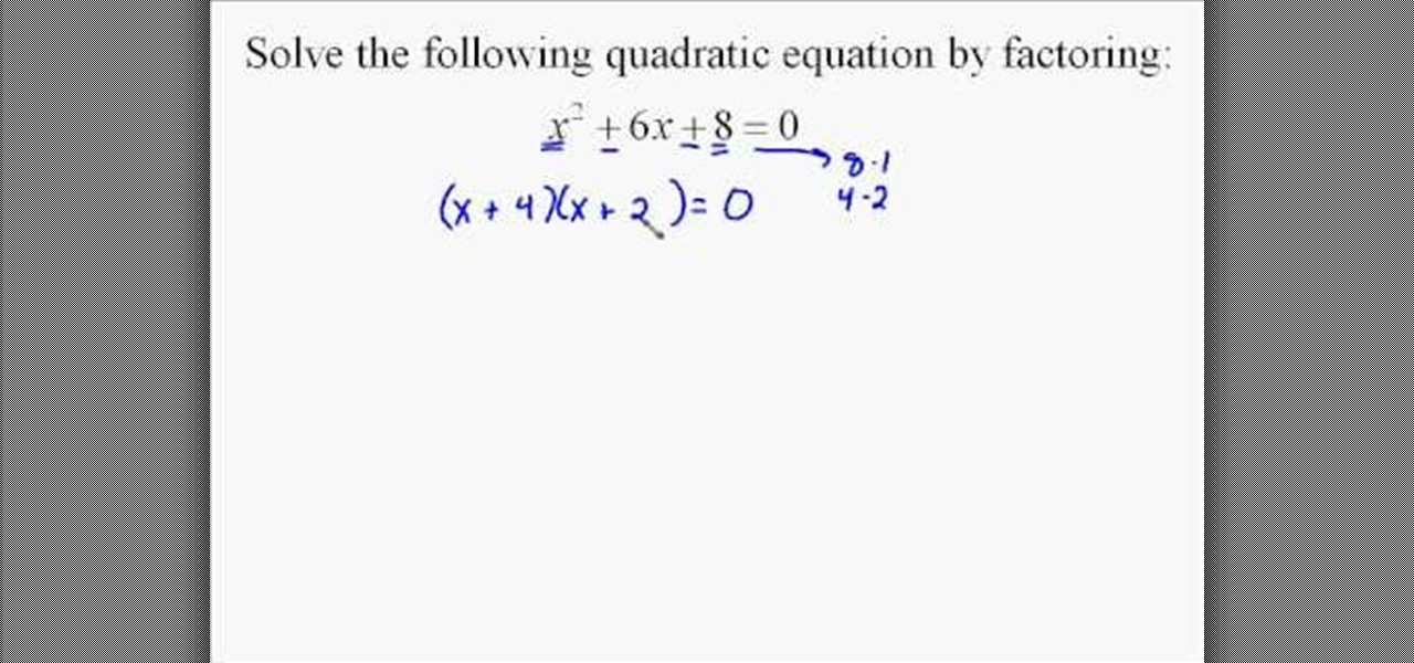 How to Quickly solve quadratic equations by factoring « Math ...