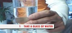 Get rid of hiccups by drinking water upside down