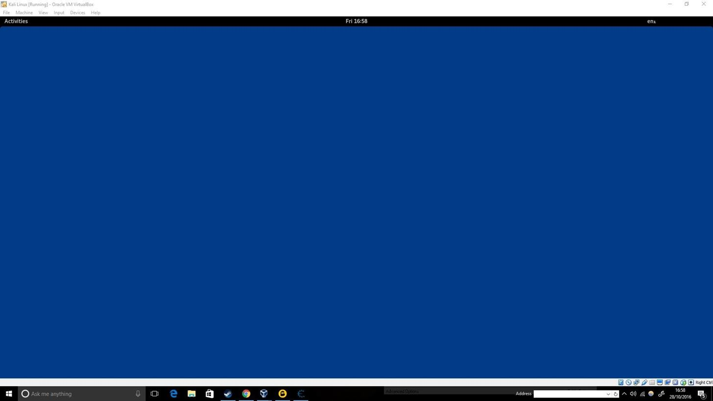 Blue Screen Kali