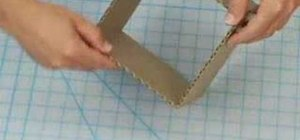 Build a six inch cube out of cardboard