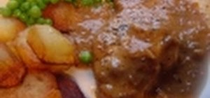 Prepare pork loin chops with a gravy sauce