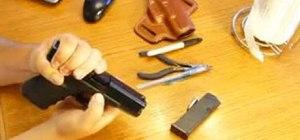 Disassemble & reassemble Glock 17, 19, 21, 22, 23, 31, 32, 35, & 36 pistols