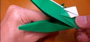 Origami a crocodile
