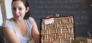 Upcycle old wine corks into a cork board